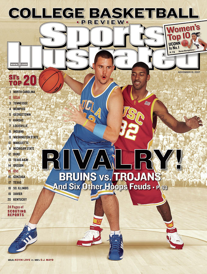 Ucla Kevin Love And Usc O.j. Mayo, 2007 College Basketball Sports Illustrated Cover Photograph by Sports Illustrated