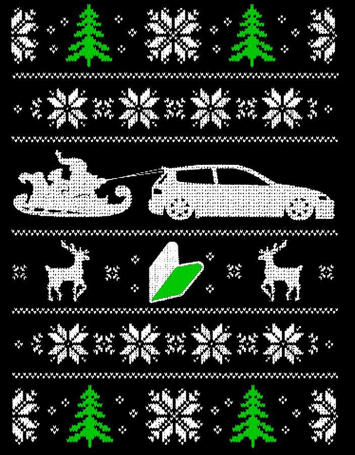 Ugly Christmas Tree.Ugly Christmas Trees Santa Sleigh Car Reindeer Snowflakes By Passion Loft