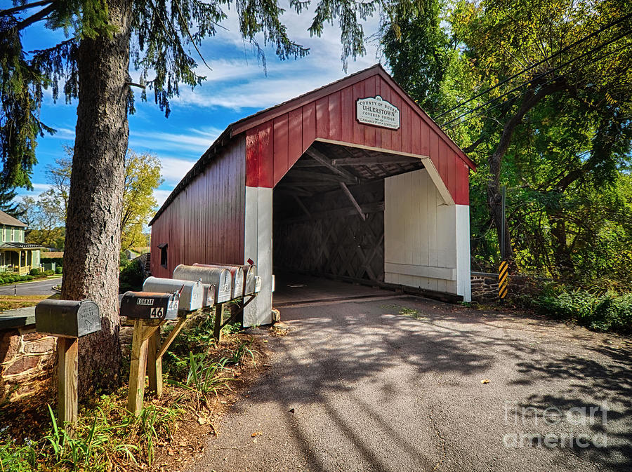 Uhlerstown Covered Bridge by Mark Miller