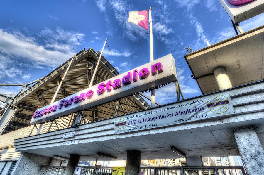 Ujpest Fc Club Stadium Budapest by David Pyatt