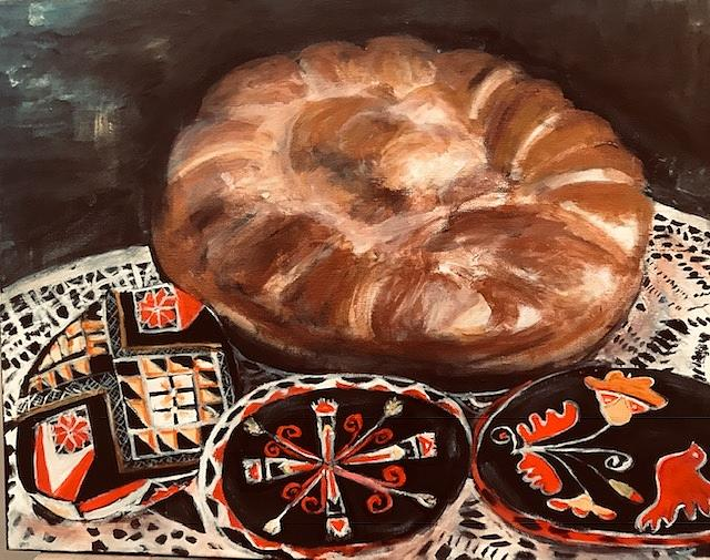 Ukrainian Painting - Ukrainian Easter  by Denice Palanuk Wilson