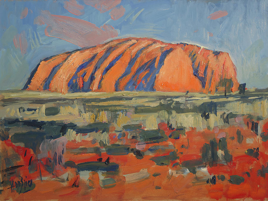 Uluru, sacred mountain by Nop Briex