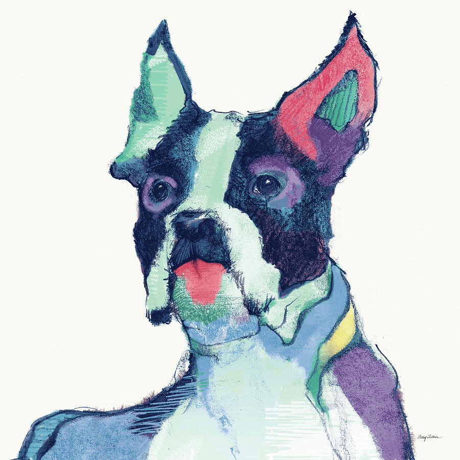 Animals Painting - Ulysses Watercolor Pastel by Avery Tillmon