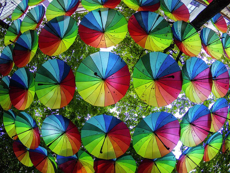 Umbrella Cafe - Paris - France Photograph