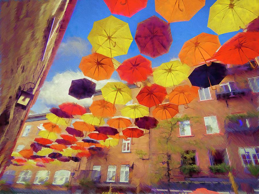 umbrellas 002 by David Brookwell