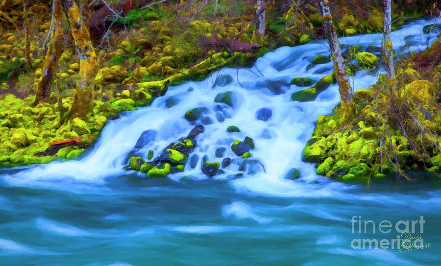 Umpqua River Tranquility by David Millenheft