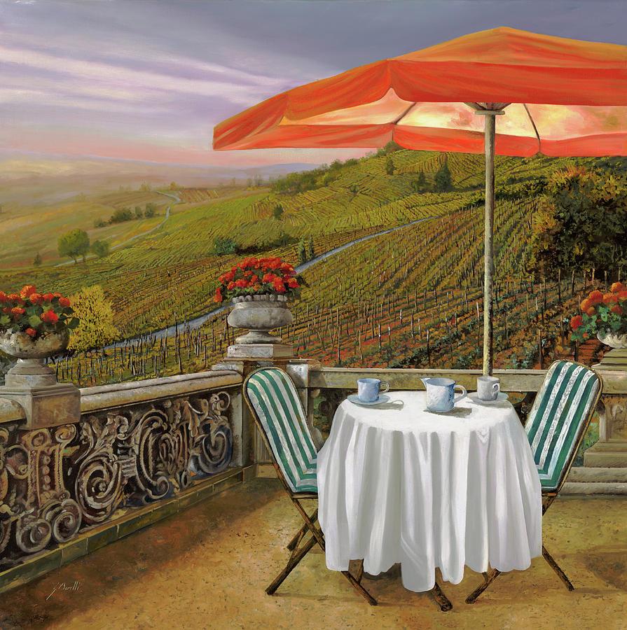 Vineyard Painting - Un Caffe Nelle Vigne by Guido Borelli