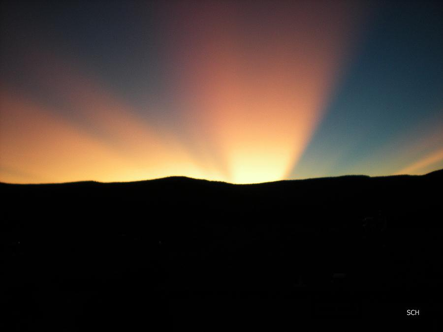 Summer Photograph - Unaltered New Mexico Sunrise by Scott Haley