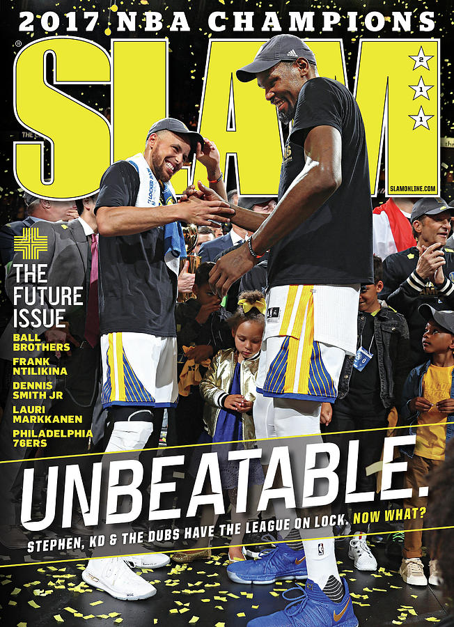 Unbeatable: Stephen, KD & The Dubs Have the League on Lock SLAM Cover Photograph by Getty Images
