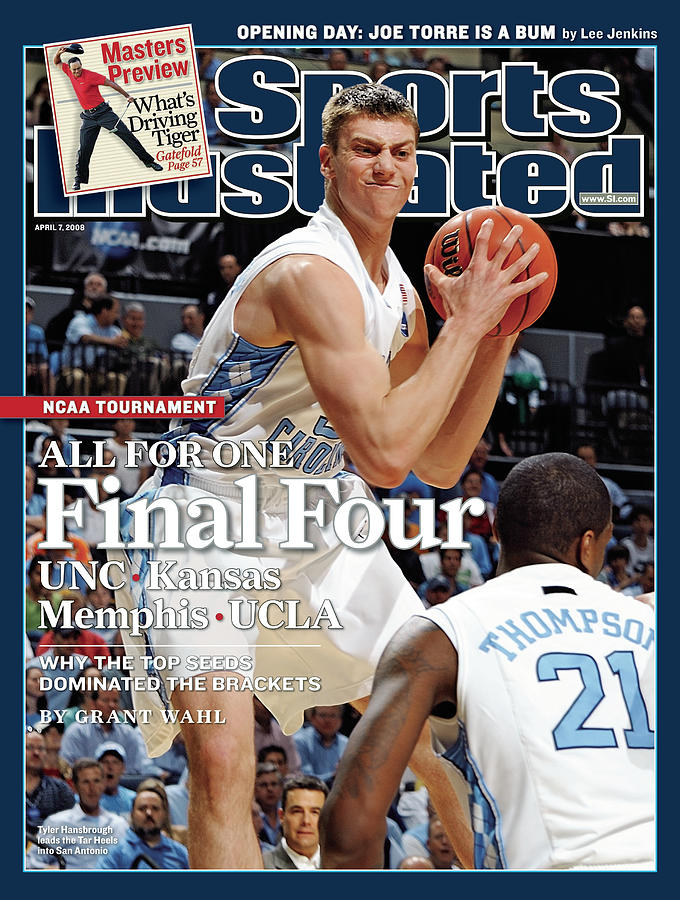 Unc Tyler Hansbrough, 2008 Ncaa East Regional Semifinals Sports Illustrated Cover Photograph by Sports Illustrated