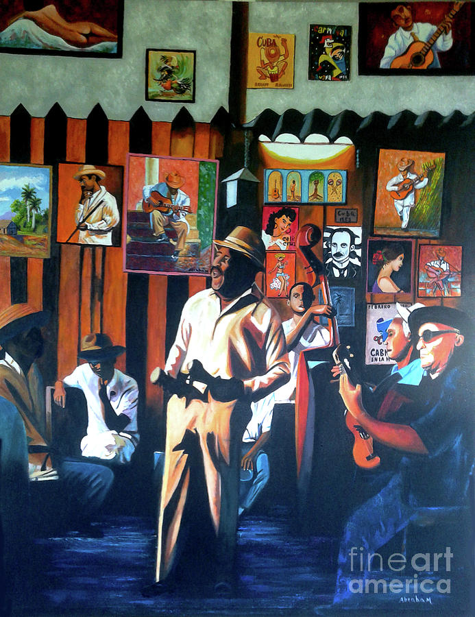 Bar Painting - Uncle Bar by Jose Manuel Abraham