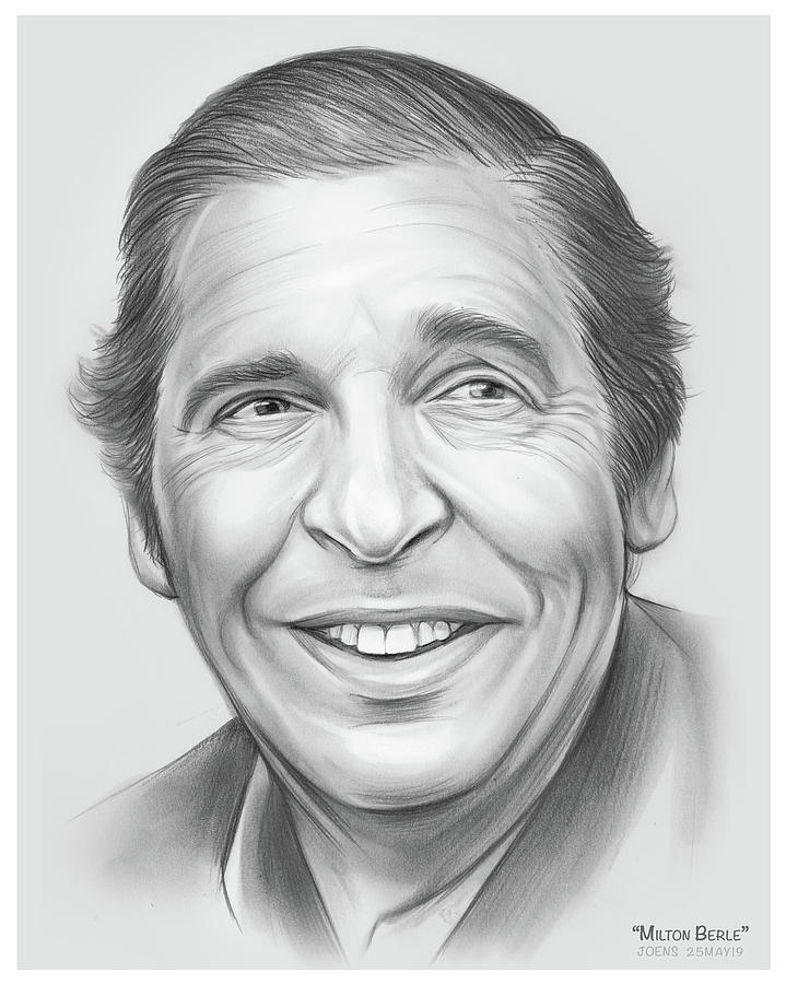 Milton Berle Drawing - Uncle Miltie by Greg Joens