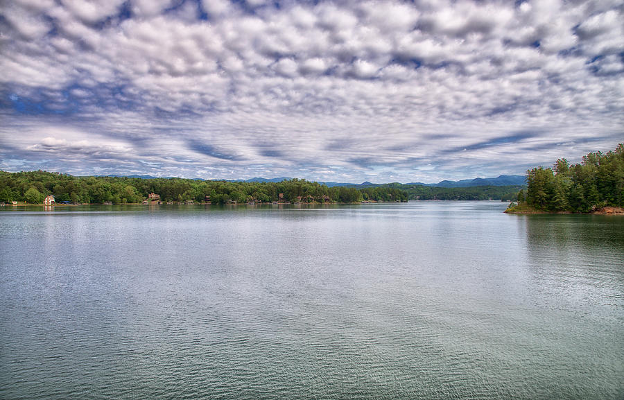 Under a Spring Sky at Lake Keowee by Blaine Owens Photography