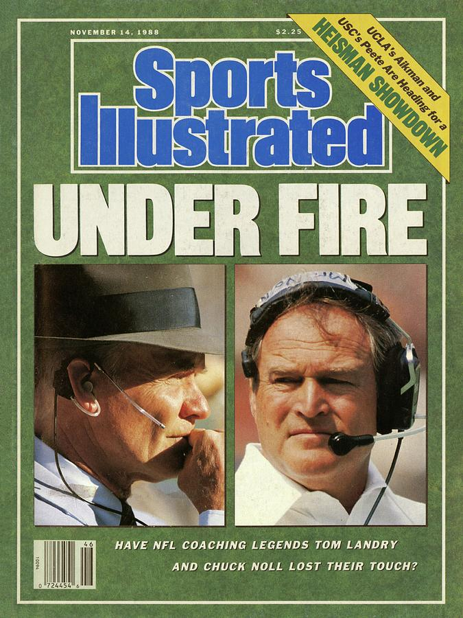 Under Fire Have Nfl Coaching Legends Tom Landry And Chuck Sports Illustrated Cover Photograph by Sports Illustrated