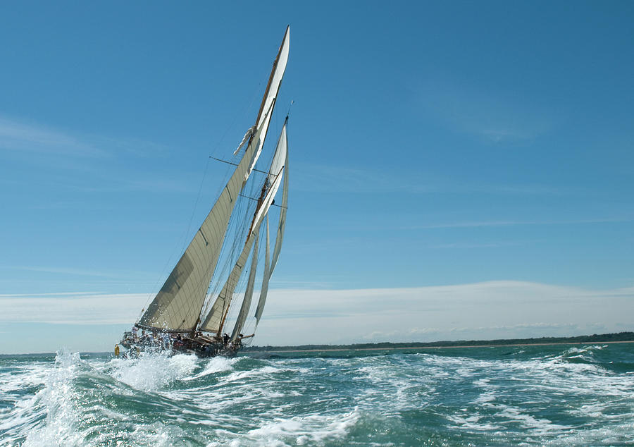Under Sail Photograph by Guynichollsphotography