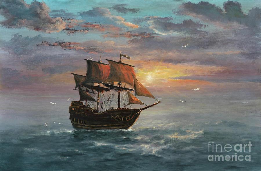 Under Sail Digital Art by Pobytov