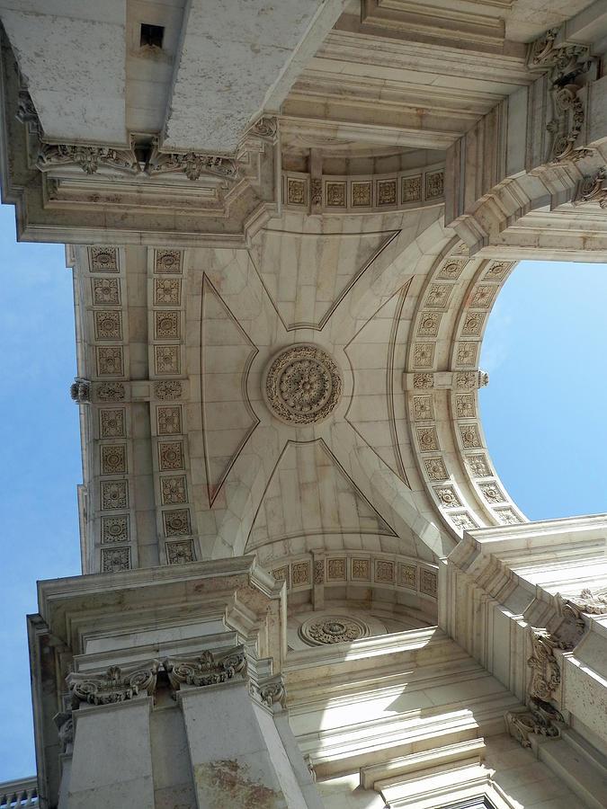 Under the Archway of Praca do Comercio by Pema Hou