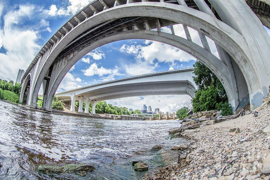 Under The Bridges In Mpls Photograph