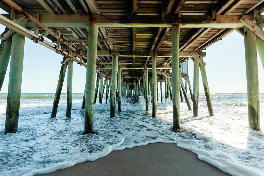 Pier Photograph - Under The Pier by Lorrie Joaus
