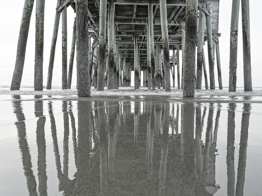 Old Photograph - Under The Pier Sunrise Classic by Betsy Knapp