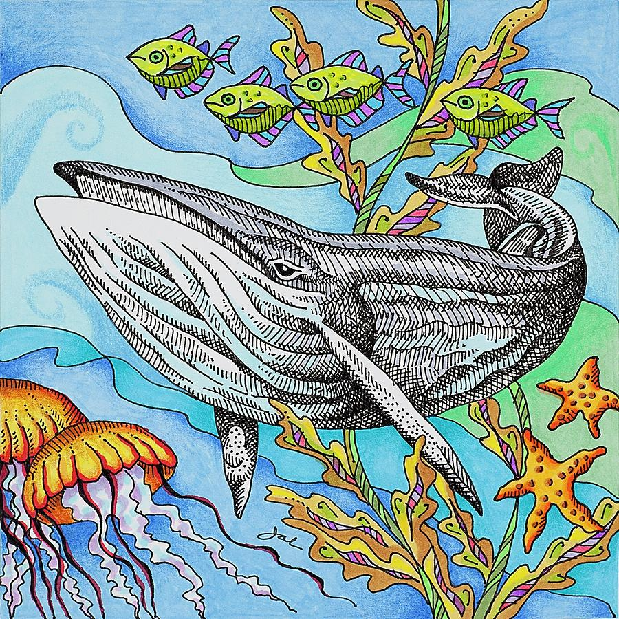 Under The Sea Drawing by Janice A Larson