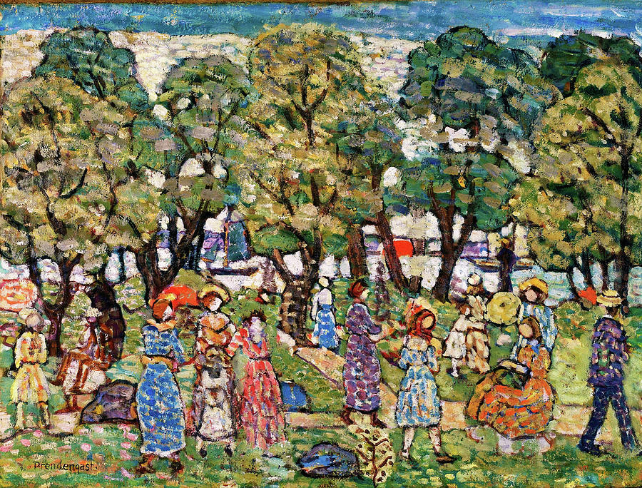 Usa Painting - Under The Trees - Digital Remastered Edition by Maurice Brazil Prendergast