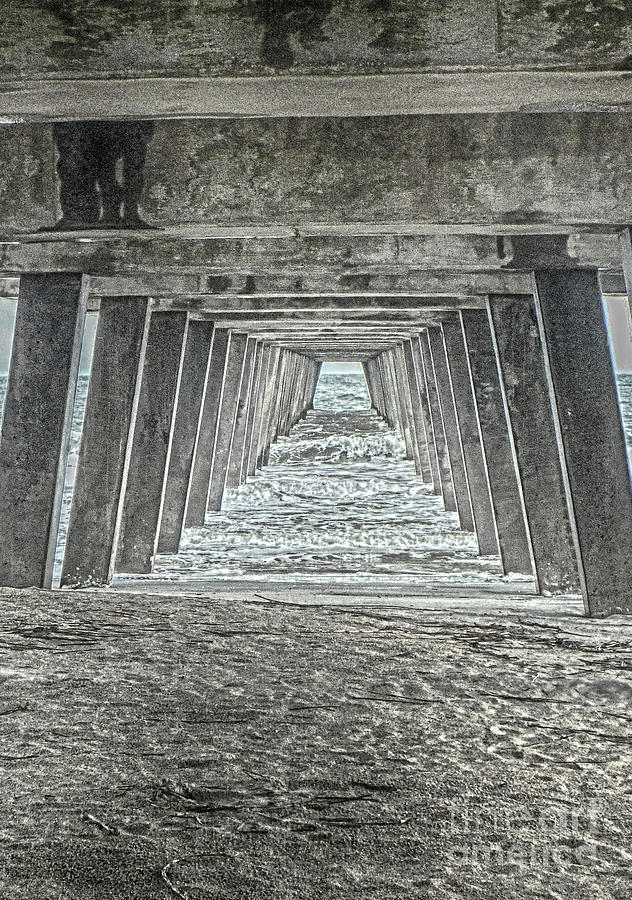 Under the Tybee Island Pier by Judy Hall-Folde