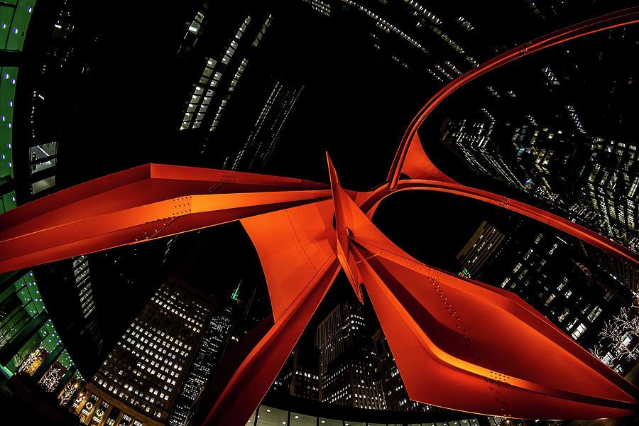 Underneath Chicago's Red Flamingo by Sven Brogren