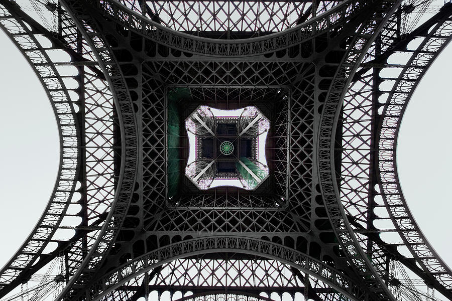 Underneath Of Eiffel Tower, Low Angle Photograph by Ed Freeman