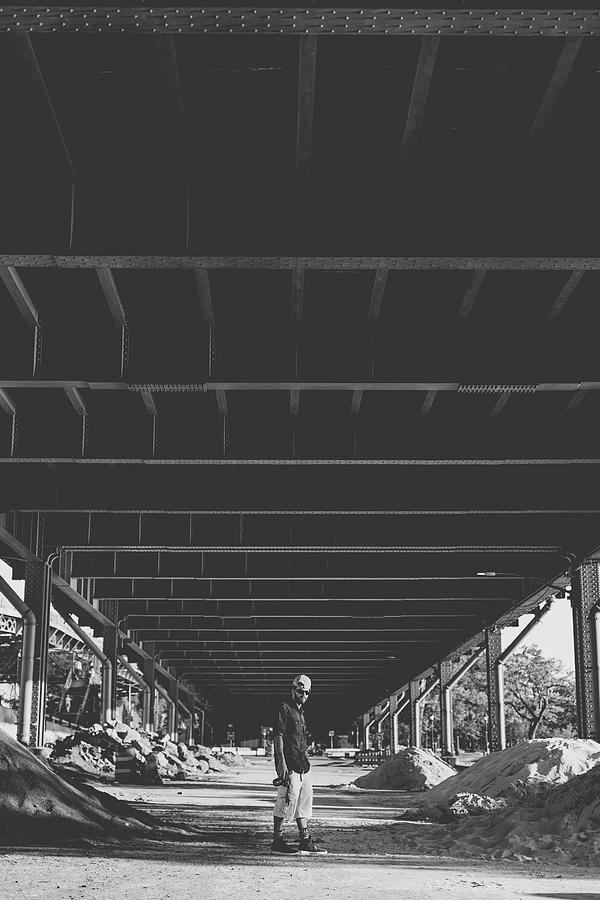 Black And White Photograph - Underneath The Busy by Angie Gonzalez