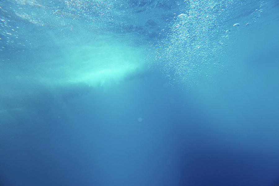 Underwater Background With Wave And Photograph by Georgepeters