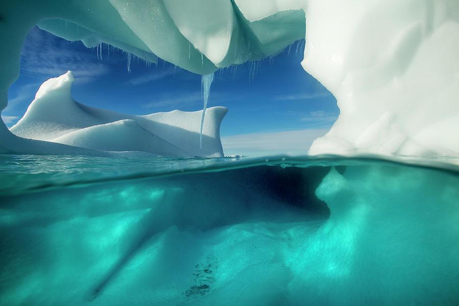 Underwater Iceberg, Antarctic Peninsula Photograph by Paul Souders