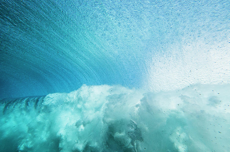 Underwater View Looking Out As A Wave Photograph by Thomas Pickard
