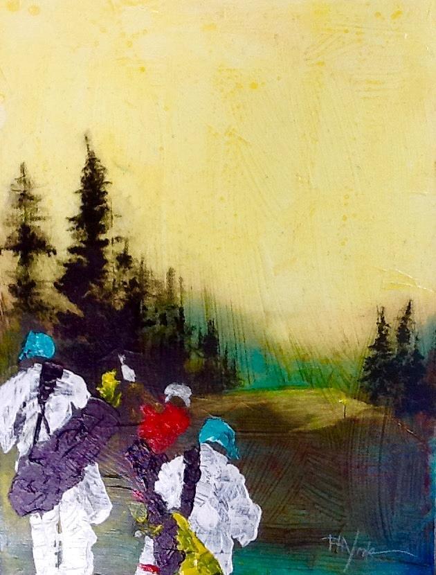 Uneven- Surreal Impressionist Painting Art Print- Spain