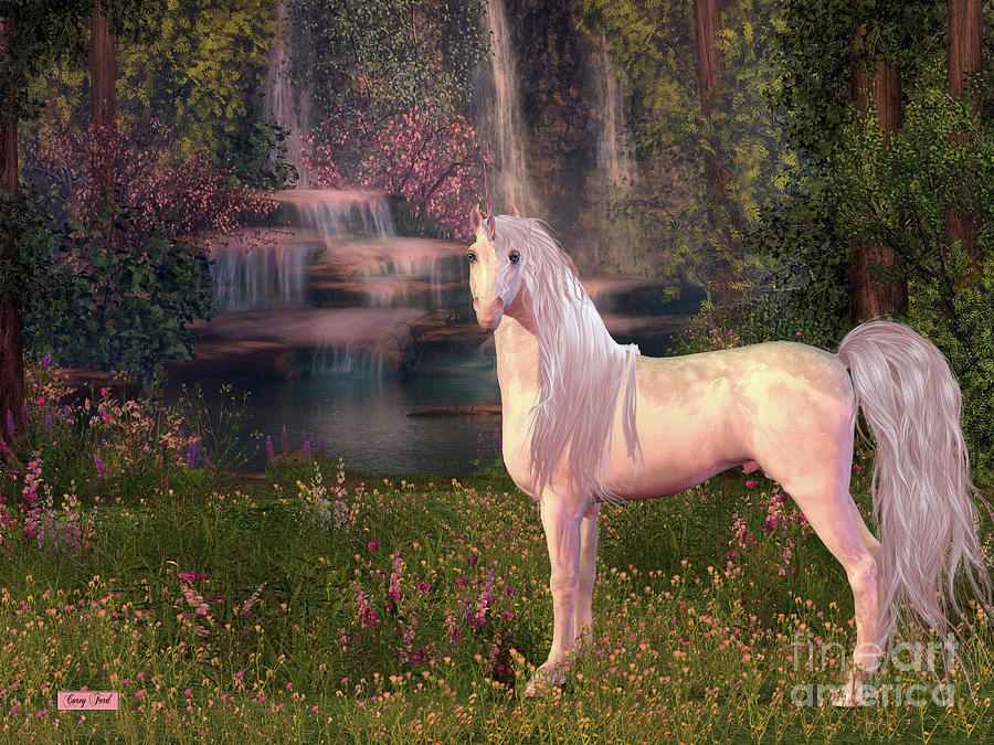 Unicorn and Waterfall by Corey Ford