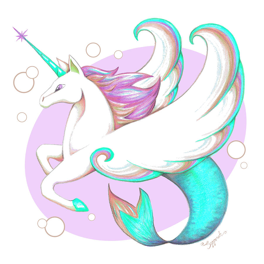 Unicorn of the Sea III by Sipporah Art and Illustration