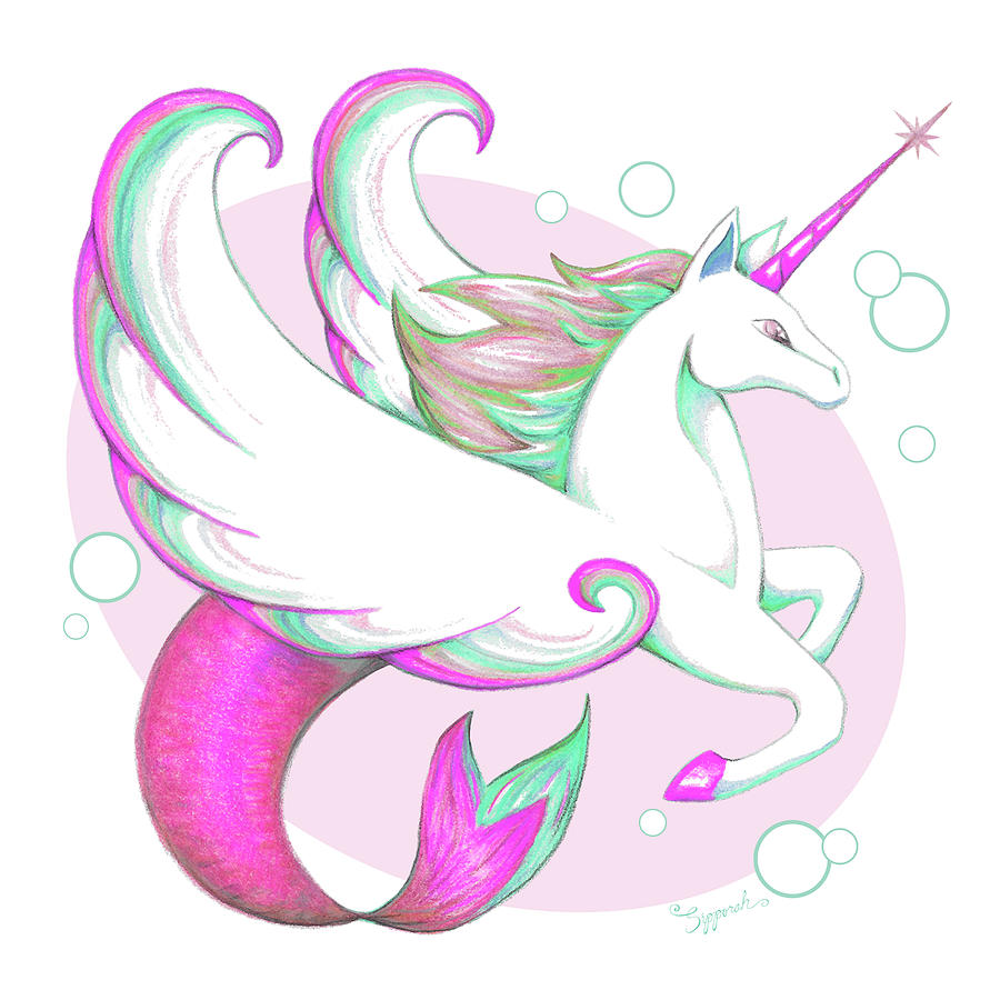 Unicorn of the Sea IV by Sipporah Art and Illustration