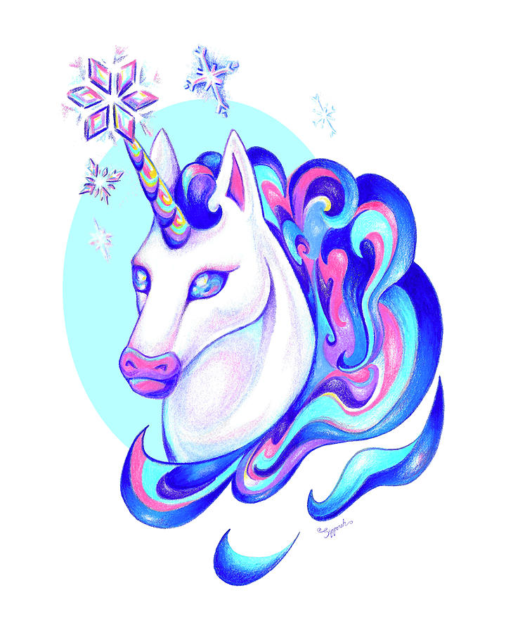 Unicorn Winter by Sipporah Art and Illustration