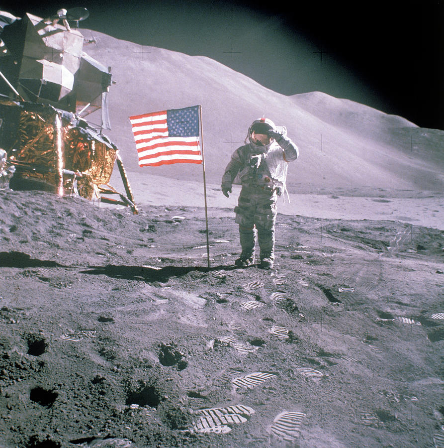 Unident. Apollo 15 Astronaut Saluting Am Photograph by Time Life Pictures