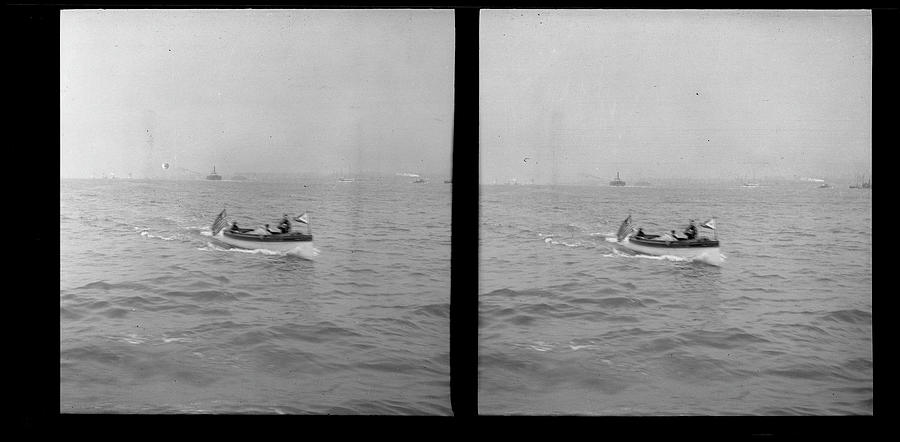 Unidentified Motorboat Photograph by The New York Historical Society