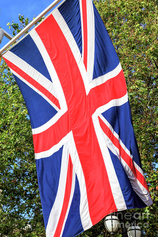 Union Jack on The Mall in London by John Rizzuto