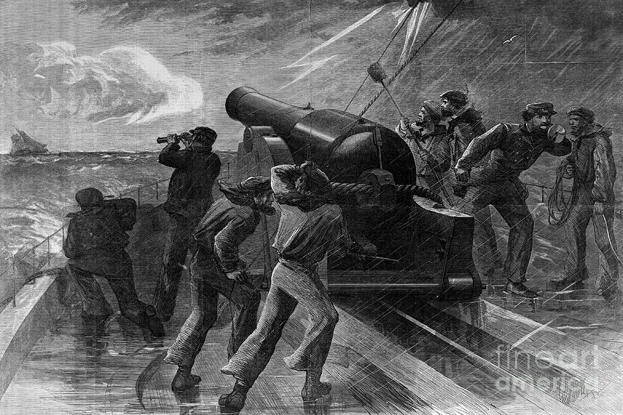 Union Navy Chasing Blockade Runner Photograph by Bettmann