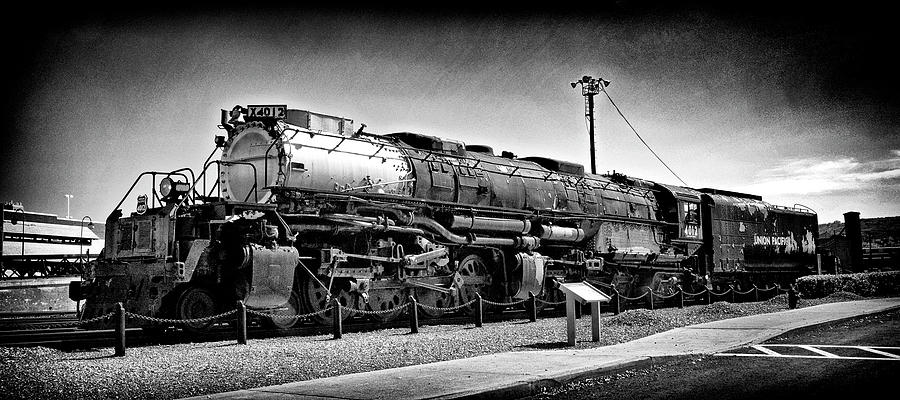 Prr Photograph - Union Pacific Big Boy In B W by Paul W Faust - Impressions of Light