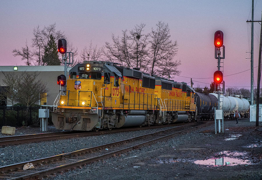 Union Pacific Highball Freight by Matthew Irvin