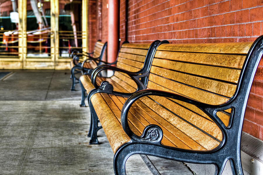 Union Station Bench Closeup by Jean Noren