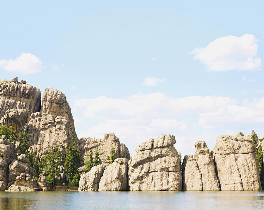 Unique Rock Formations Along The Photograph by Chris And Kate Knorr / Design Pics