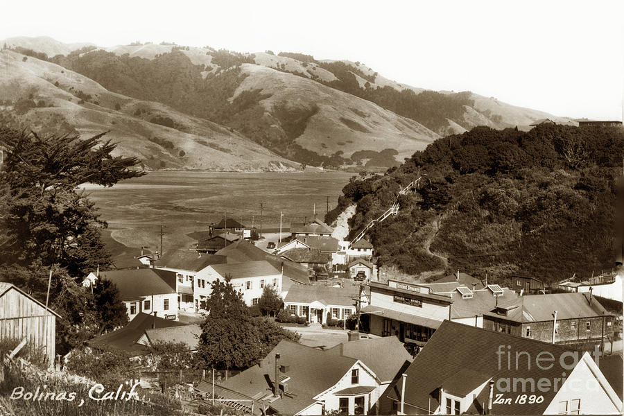 United Grocery, Bolinas, California Circa 1940 by California Views Archives Mr Pat Hathaway Archives