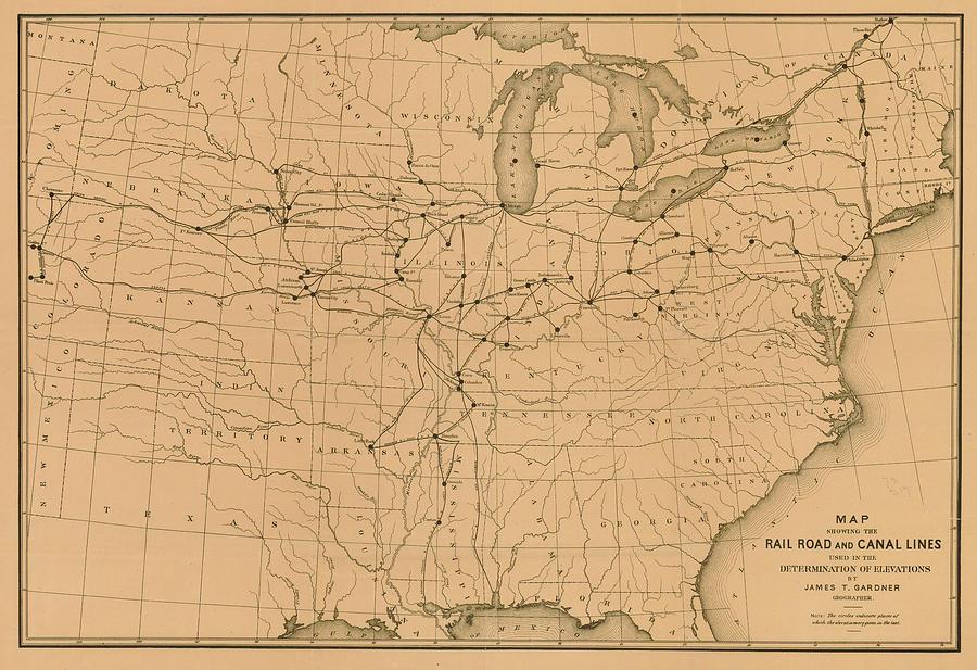 United States 1885 Map