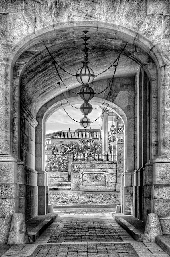 United States Capitol - Archway Black and White by Marianna Mills