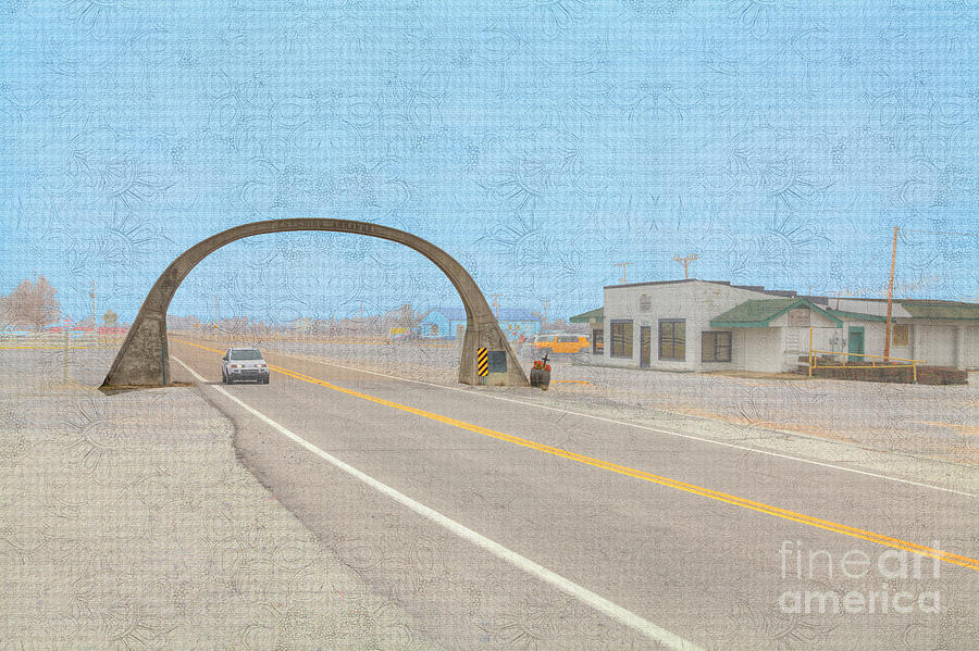 Hdr Photograph - United States Highway 61 Arch  by Larry Braun